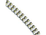 Chisel Stainless Steel Gold Plated Bracelet - 8.75 inches style: SRB160