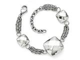 Chisel Stainless Steel Polished Hollow Squares W/2in. Ext.  Bracelet style: SRB1614725