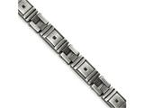 Chisel Stainless Steel Antiqued Brushed Cz Bracelet style: SRB1650875