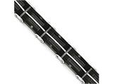 Chisel Stainless Steel Brushed and Polished Wire Black Ip-plated Bracelet style: SRB1653875
