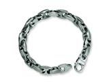 Chisel Stainless Steel Brushed and Polished Bracelet - 8.25 inches