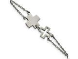 Chisel Stainless Steel Cross Bracelet style: SRB169675
