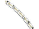 Chisel Stainless Steel Polished W/14k Gold Link Bracelet style: SRB1711875