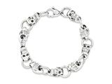 Chisel Stainless Steel Polished Skull Bracelet - 8.75 inches