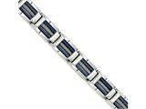 Chisel Stainless Steel Polished W/blue Ip Cable Bracelet style: SRB1720875
