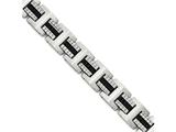 Chisel Stainless Steel Brushed And Polished Black Ip-plated 8.75in Bracelet style: SRB1739875