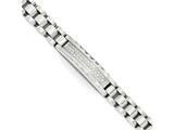 Chisel Stainless Steel Brushed And Polished With Cz 8.5in Bracelet style: SRB175585