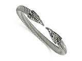 Chisel Stainless Steel Antiqued And Polished Eagle Cuff Bangle style: SRB1765