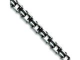 Chisel Stainless Steel Black Rubber Bracelet - 8.5 inches