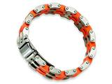 Chisel Stainless Steel Orange Rubber Bracelet - 8 inches