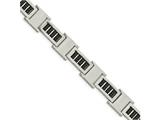 Chisel Stainless Steel Polished Black Ip Link Bracelet style: SRB197885