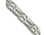 Chisel Stainless Steel Polished And Brushed 8.5in Link Bracelet style: SRB200185