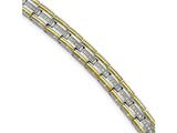 Chisel Stainless Steel Polished Yellow Ip Cz 8.50in Link Bracelet style: SRB201085