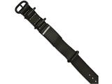 Chisel Stainless Steel Brushed Black Ip Black Leather Adj. Id Bracelet style: SRB2025