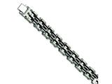 Chisel Stainless Steel Black Rubber Bracelet - 9.25 inches