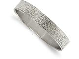 Chisel Stainless Steel Polished And Brushed Hammered Bangle style: SRB2082