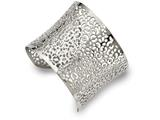 Chisel Stainless Steel Polished Cut-out Design Cuff Bangle style: SRB2088