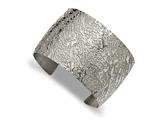 Chisel Stainless Steel Polished Textured 4.50mm Cuff Bangle style: SRB2089