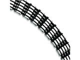 Chisel Stainless Steel Black Rubber Bracelet - 8.75 inches