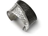 Chisel Stainless Steel Polished Black Ip-plated Cuff Bangle style: SRB2090