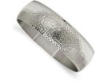 Chisel Stainless Steel Polished And Brushed Hammered Bangle style: SRB2092