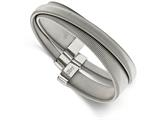 Chisel Stainless Steel Polished And Textured Moveable Cuff Bangle style: SRB2097