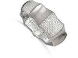 Chisel Stainless Steel Brushed And Textured Hinged Bangle style: SRB2099