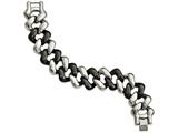 Chisel Stainless Steel And Black Ceramic Polished Bracelet style: SRB211975
