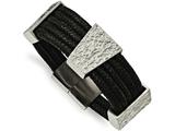 Chisel Stainless Steel Textured And Polished Multi-strand Cord Bracelet style: SRB21328