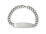 Chisel Stainless Steel Polished ID Bracelet - 8.75 inches