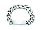 Chisel Stainless Steel Polished ID Bracelet - 9 inches