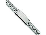 Chisel Stainless Steel Black Rubber ID Bracelet - 9 inches