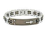 Chisel Stainless Steel Black Ip-plated 8.5in Id Bracelet style: SRB29285