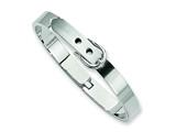 Chisel Stainless Steel Fancy Belt Hinged Bracelet style: SRB303