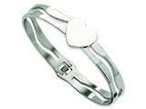 Chisel Stainless Steel Heart Hinged Bracelet style: SRB304