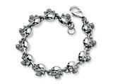 Chisel Stainless Steel Skull Bracelet - 8 inches style: SRB353