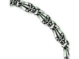 Chisel Stainless Steel Gothic Bracelet - 8.75 inches