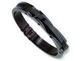 Chisel Stainless Steel Black IP-plated Bangle