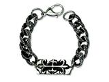 Chisel Stainless Steel Antiqued Gothic Bracelet - 8.5 inches