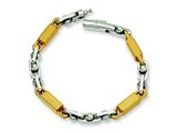 Chisel Stainless Steel Link Bracelet - 8 inches style: SRB369