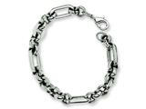 Chisel Stainless Steel Fancy Link Bracelet - 7.5 inches