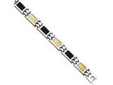 Chisel Stainless Steel 14k Gold Filled Accent and Carbon Fiber 8in Bracelet style: SRB4088