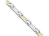 Chisel Stainless Steel and 14k Polished 8.5in Bracelet style: SRB41385
