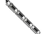 Chisel Stainless Steel Black-plated Wire 8.5in Bracelet style: SRB42485