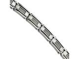 Chisel Stainless Steel Silver Wire Inset 8.5in Bracelet style: SRB42885