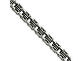 Chisel Stainless Steel Black Rubber Brushed 8.5in Bracelet style: SRB48285