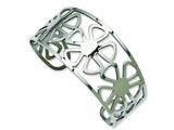 Chisel Stainless Steel Flower Cuff Bangle style: SRB670
