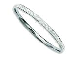 Chisel Stainless Steel Clear Crystal Rounded Bangle style: SRB772