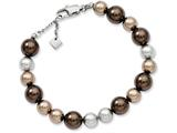 Chisel Stainless Steel Multicolor Simulated Pearl 7.5 W/ext Bracelet style: SRB77675