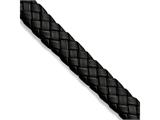 Chisel Stainless Steel Brushed Black Leather 8.5 In Bracelet style: SRB78485